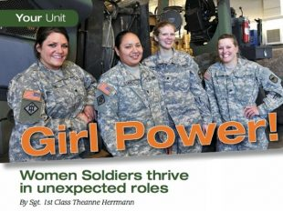 Girl Power - Women Soldiers thrive in unexpected roles