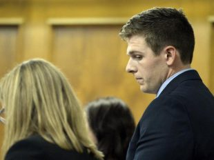 Jack Warmolts appears in Boulder District Court in June for an arraignment hearing. He pleaded guilty Tuesday to second-degree assault and unlawful sexual contact. (Jeremy Papasso / Staff Photographer)
