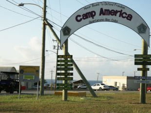 The entrance to Camp America at U.S. Guantanamo Naval Base, Cuba. (AP Photo/Ben Fox)