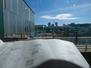 Blue prints laid out by a window inside the new replacement VA Medical Center on Thursday, January 30, 2015. Approximately 1.6 million square feet across 30-acres between Canal Street and Tulane Avenue, the hospital and medical center will serve over 70,000 enrolled veterans. (Photo by Julia Kumari Drapkin, Nola.com   The Times-Picayune) (Julia Kumari Drapkin)
