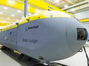 The Boeing Echo Voyager, an unmanned undersea vehicle which can operate autonomously for months at a time