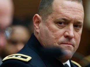 California National Guard Adjutant General Maj. Gen. David Baldwin listen as right as Army National Guard Lt. Gen. Timothy Kadavy testifies on Capitol Hill in Washington.  (AP)