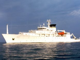 The oceanographic survey ship, USNS Bowditch, from which the underwater drone was deployed. Photograph: US Navy/Reuters