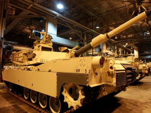 An Abrams battle tank during a tour of the Joint Systems Manufacturing Center, Lima Army Tank Plant, in Lima, Ohio, April 23, 2012. Matt Sullivan/Reuters