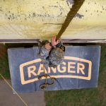 A U.S. soldier climbs a caving ladder during the Urban Assault Course at the Best Ranger Competition 2016 at Fort Benning, Ga., on April 15, 2016. (Sgt. Brian Kohl/U.S. Army)