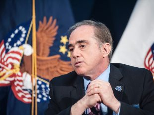 Veterans Affairs' Under Secretary of Health David Shulkin attends an event at the National Press Club in Washington, D.C., on Wednesday, April 20, 2016