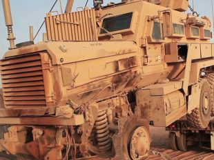 US 2 Million Dollars Tow Tank Recover a Broken MRAP Vehicle - M88A2 Towing