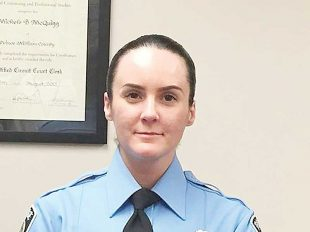 Officer Ashley Guindon was fatally shot responding to a domestic incident in Woodbridge, Va., one year ago. (REUTERS/Prince William Co. PD)
