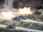 A South Korea-United States joint military drill in Pocheon, South Korea, last week. The countries are stepping up their military readiness amid signs that the North is preparing to test a nuclear device. Credit Kim Hong-Ji/Reuters