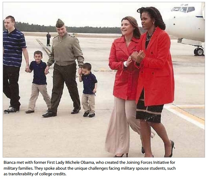 bianca met first lady Michele Obama