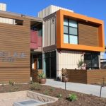 The Potter's Lane apartment complex, located in Middle City, Calif., houses homeless veterans. The complex is composed of recycled shipping containers.  (Elizabeth Duong, community outreach coordinator, American Family Housing)