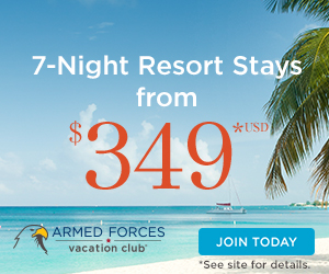 Military family vacations