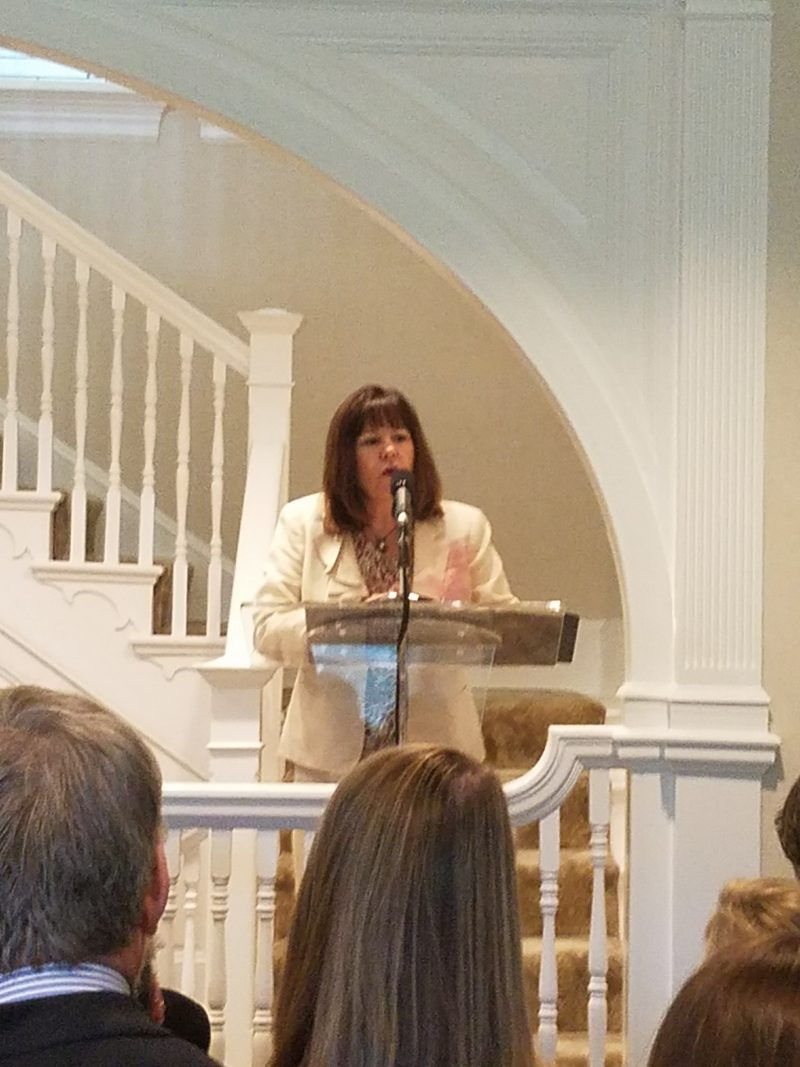 Second Lady Karen Pence hosted attendees of the Creative Forces Clinical Research Summit at her home Monday. The event included partners of the NEA Military Healing Arts Network and art therapists who work with military patients. Photo by Bianca Strzalkowski