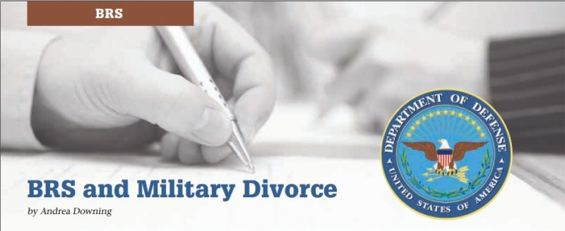 brs and military divorce