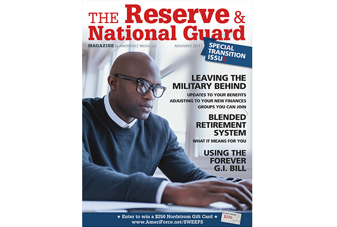 Reserve and National Guard November 2017