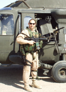 Army Helicopter Pilot, Rob Vicci, in Iraq